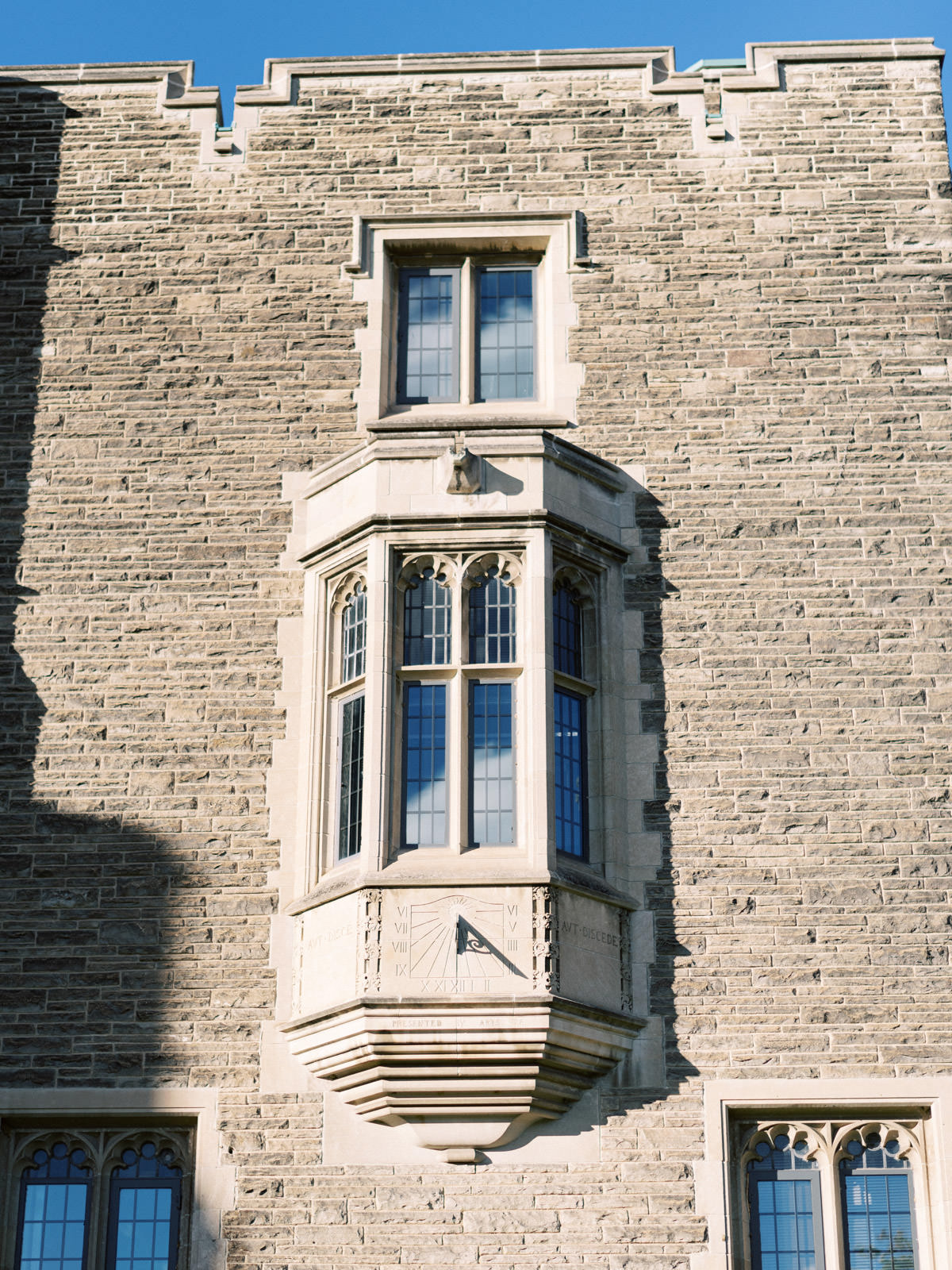 window on building at mcmaster