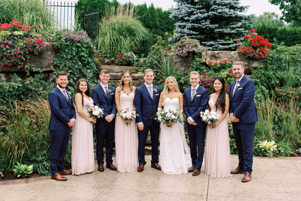 the whole bridal party, casual