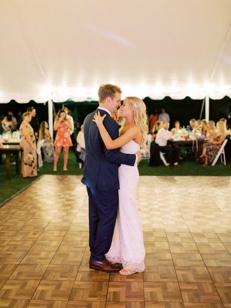 backyard tent wedding reception, in halton hills