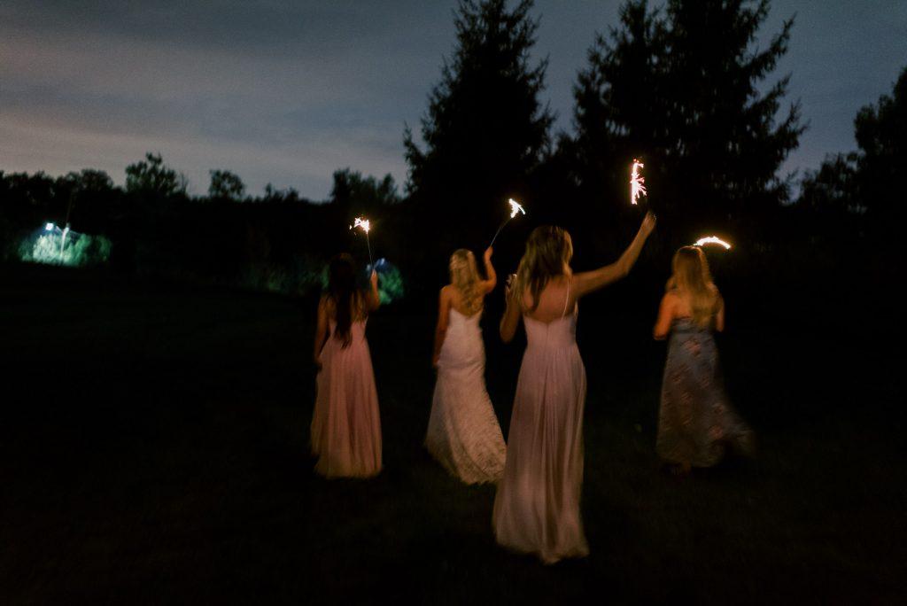 backyard wedding fireworks private estate