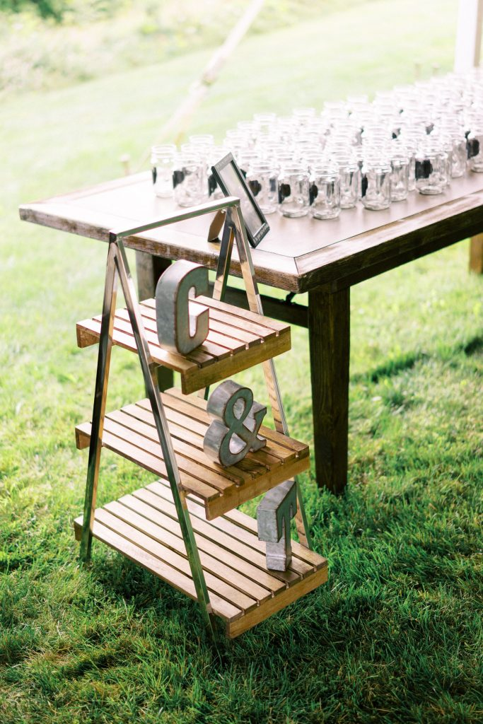 backyard tent wedding reception, halton hills details