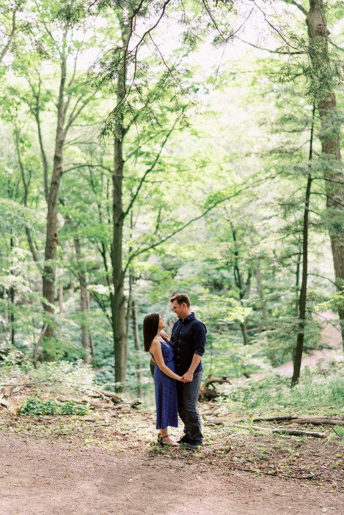 portrait in the woods, dundas valley engagement photography