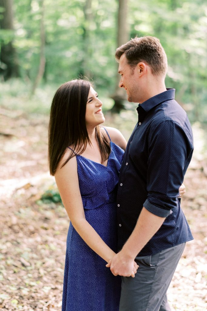 close up smiles, dundas valley engagement photography
