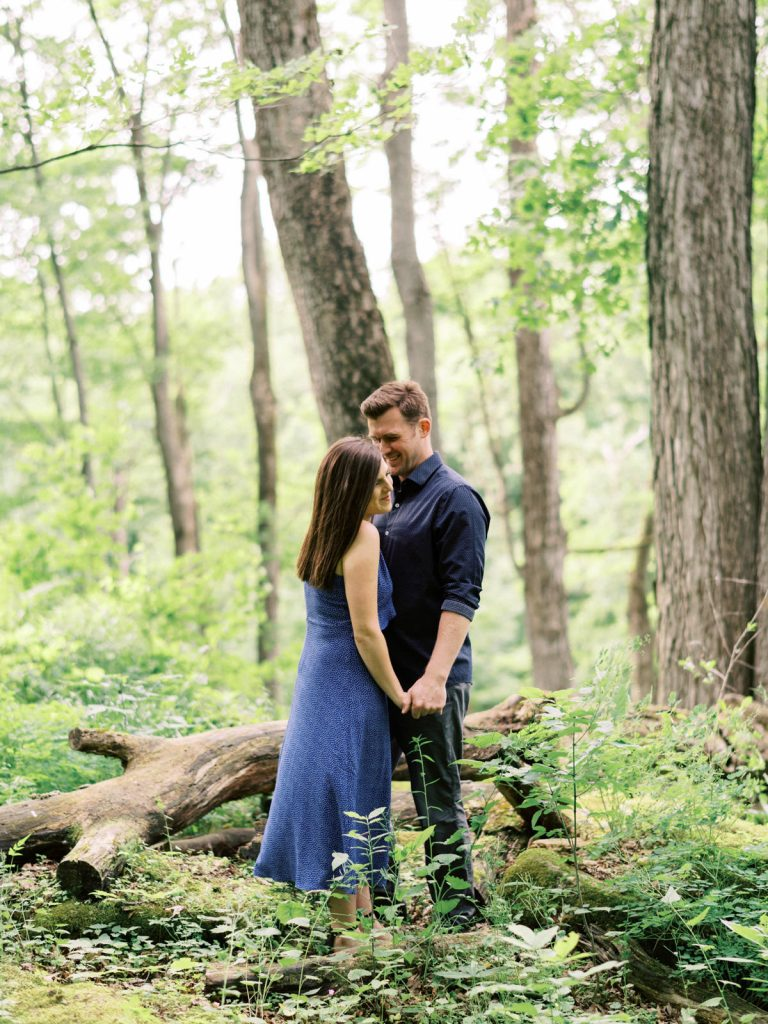 whispers in her ear, dundas valley engagement photography
