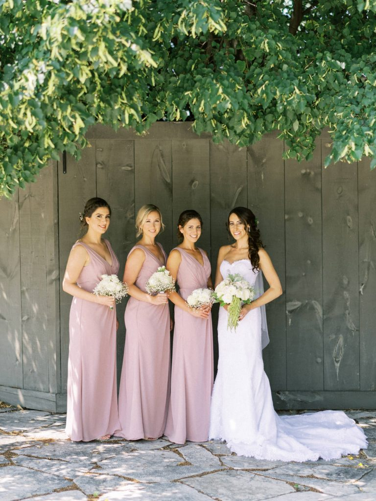 bridesmaids group portrait