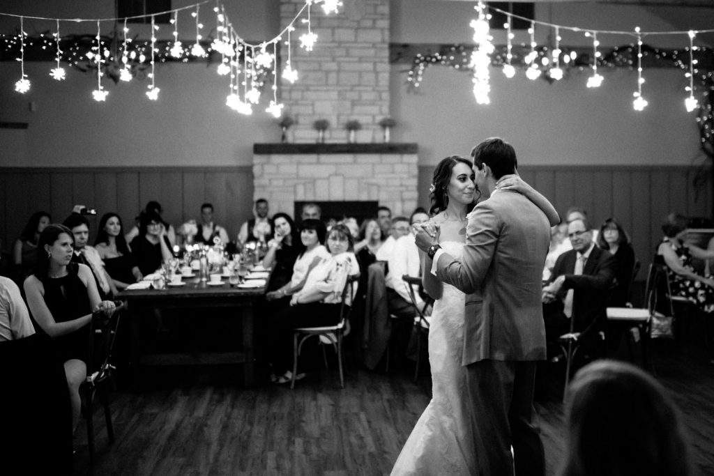 first dance under the twinkle lights