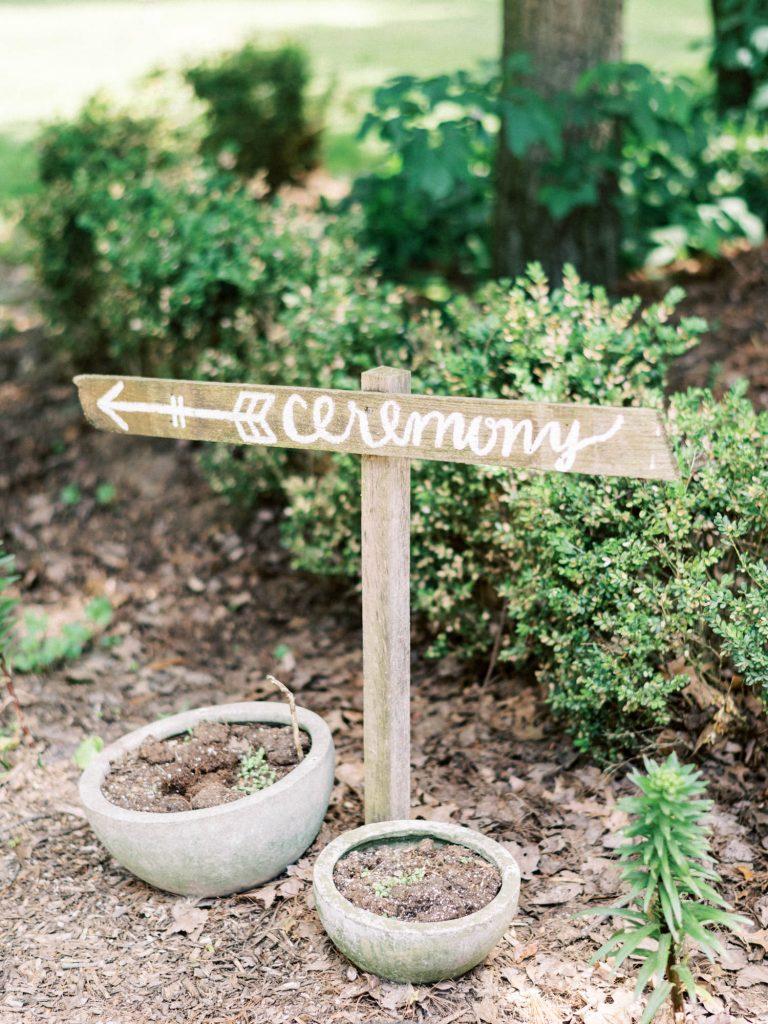 ceremony sign at fernwood hills