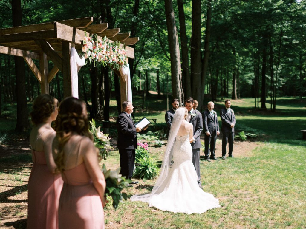 wedding ceremony at fernwood