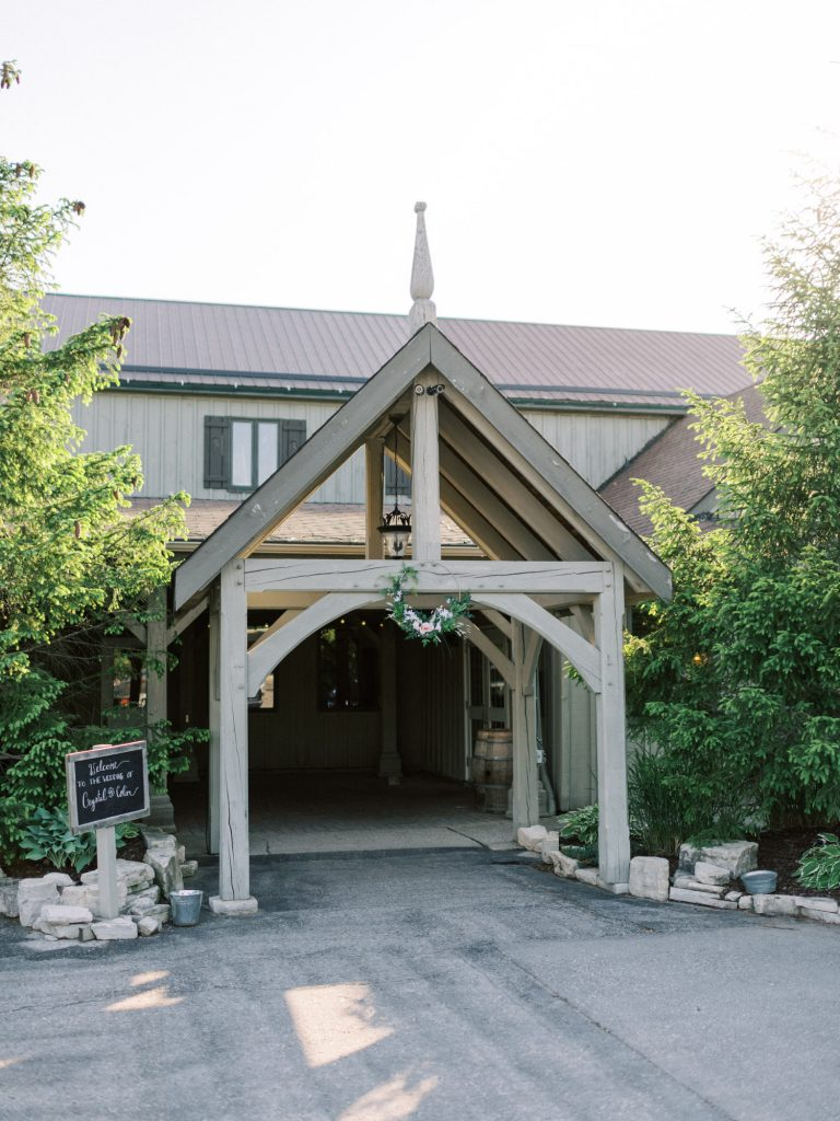 bellamere winery wedding reception front entrance